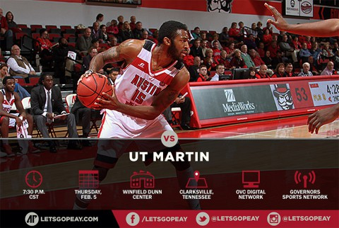 Austin Peay Men's Basketball plays UT Martin Thursday. (APSU Sports Information)