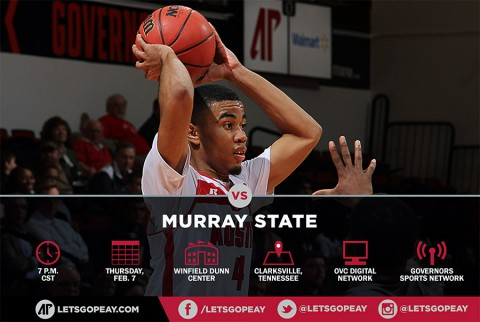 Austin Peay Men's Basketball takes on OVC leader Murray State Saturday at the Dunn Center. (APSU Sports Information)