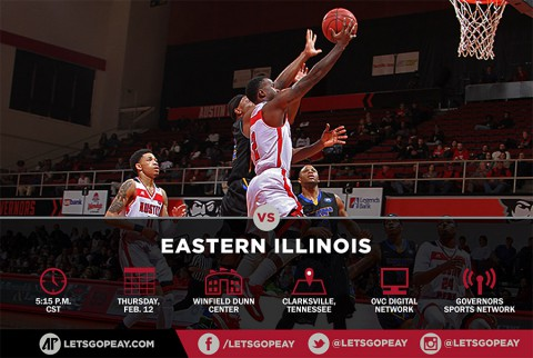 Austin Peay Men's Basketball plays Eastern Illinois at home, Thursday. (APSU Sports Information)