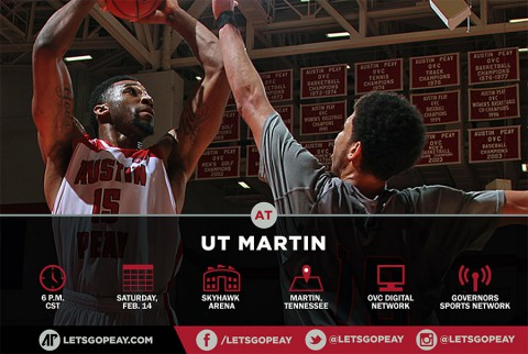 Austin Peay Men's Basketball plays the Skyhawks in Martin Tennessee, Friday. (APSU Sports Information)