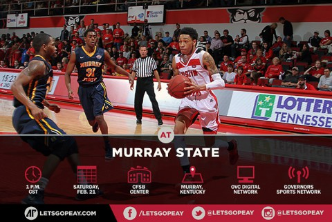 Austin Peay Men's Basketball on the road against Murray State Saturday. (APSU Sports Information)