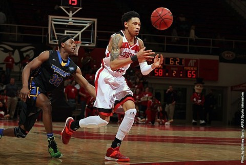 Austin Peay Men's Basketball loses to Murray State 89-54. (APSU Sports Information)