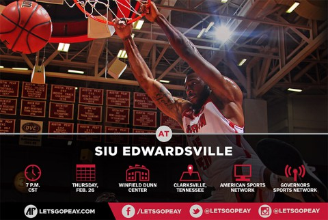 Austin Peay Men's Basketball play final home game of the season, Thursday, against SIUE. (APSU Sports Information)