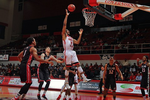 Austin Peay senior forward Chris Freeman recorded a double-double, including a career-high 24 points against SIUE. (APSU Sports Information)