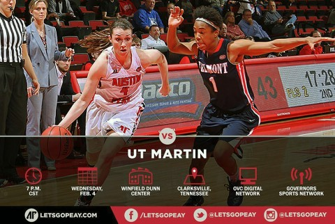 Austin Peay Women's Basketball plays host to UT Martin Skyhawks Wednesday. (APSU Sports Information)