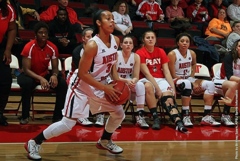 Austin Peay Women's Basketball drops game to UT Martin 71-61, Wednesday night. (APSU Sports Information)