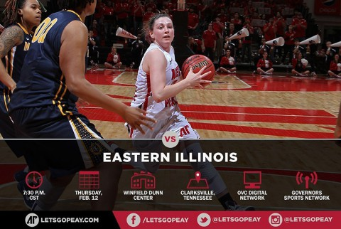 Austin Peay Lady Govs Basketball faces Eastern Illinois at the Dunn Center, Thursday. (APSU Sports Information)