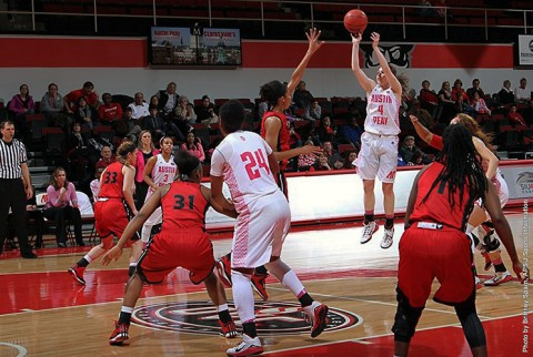 Austin Peay senior guard Kristen Stainback scored 17 points in loss to SIUE Thursday. (APSU Sports Information)