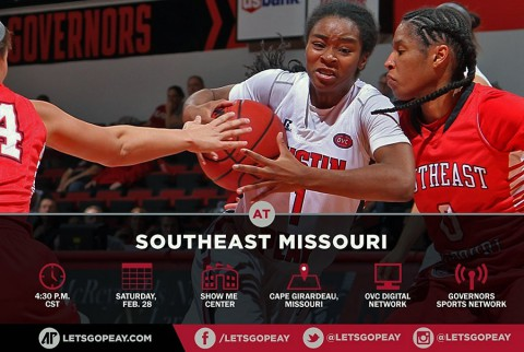 Austin Peay Women's Basketball looks to better OVC Tournament seating with win at SEMO. (APSU Sports Information)