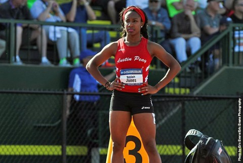 Austin Peay Track and Field's Breigh Jones selected as APSU Athlete of the Week. (APSU Sports Information)