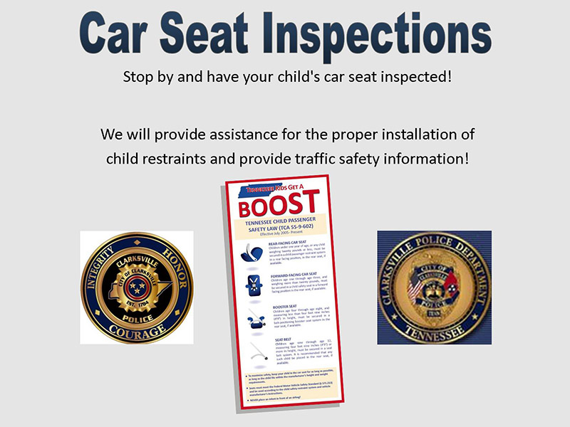 Clarksville Police Department To Hold Car Seat Inspections