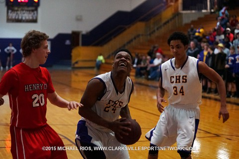 Clarksville High Boy's Basketball roll to 62-35 win over Henry County Friday night.