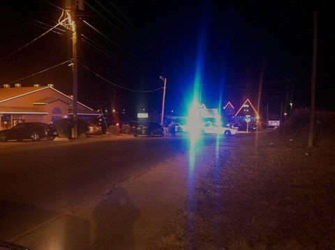Clarksville Police at the scene of a shooting Friday night at a nightclub on Mr. C Drive.