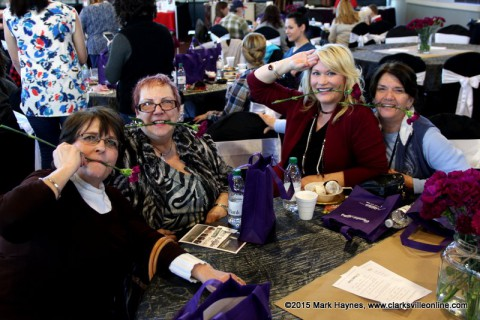 (L to R) Deborah Dawson, Carol Cherich, Lauri Morrison, Cheryl Amro enjoyed themselves at the Chocolate Affair.
