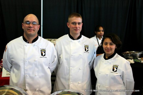 Fort Campbell Culinary Team at Clarksville Parks and Recreation's Chocolate Affair.