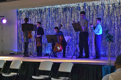 Brio Strings Ensemble played at the 2nd Annual LEAP Gala Celebrating Youth Development at the Emmanuel Family Life Center.