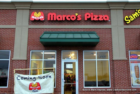 Marco's Pizza located at 1761 Tiny Town Road, Clarksville, opens today.
