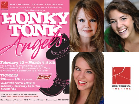 Honky Tonk Angels at the Roxy Regional Theatre stars (Top L to R) Jama Bowen, Corinne Bupp and Kristina Wilson.