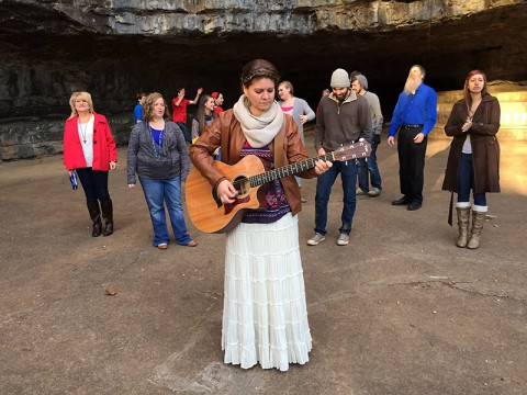 Lydia Walker new video was filmed with Dunbar Cave as the back drop.