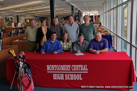 Montgomery Central High School Golf's Tyler Britt signs with the Bethel University Wildcats Wednesday, February 11th.
