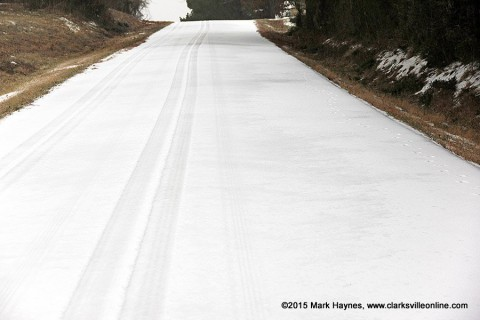 Snow early this morning with freezing temperatures have made roads hazardous again this morning, especially side roads that have not been scrapped or salted in Clarksville-Montgomery County.