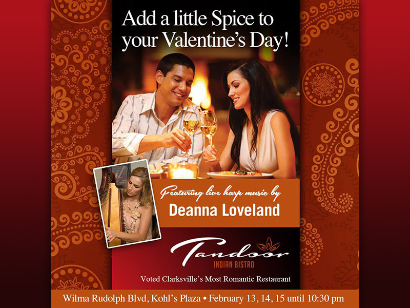 clarksvilles tandoor indian restaurant to create that romantic atmosphere for you this valentines day - Valentines Day Food Specials