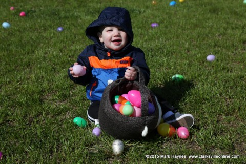 This little one was really enjoying the Easter eggs.