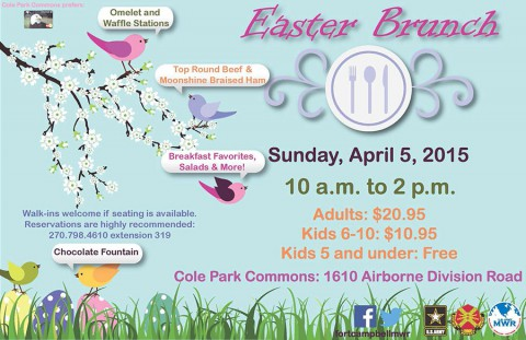 Fort Campbell Cole Park Commons to offer Easter Brunch Sunday, April 5th