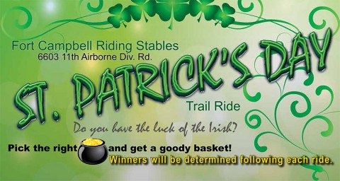 2015 Fort Campbell MWR St. Paddys Day Trail Ride