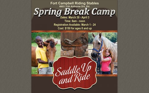 2015 Fort Campbell Riding Stables to hold Spring Break Horse Camp