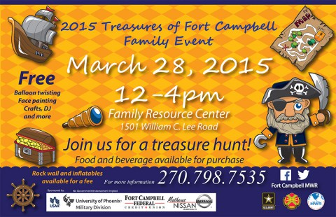 Treasures of Fort Campbell Family Event, March 28th
