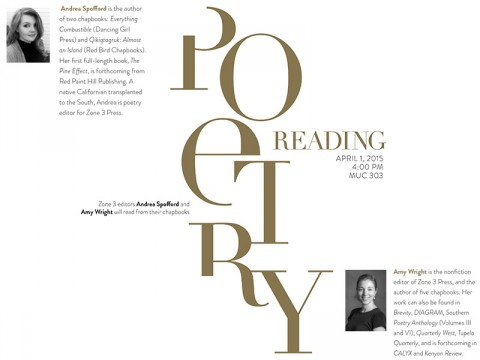 Poetry Reading at APSU, April 1st.