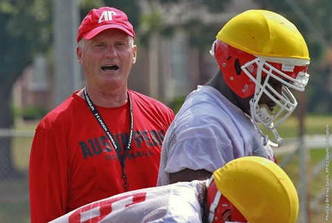 Austin Peay Football Spring Practice.  (APSU Sports Information)