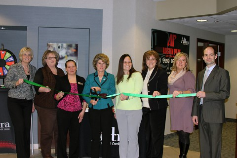 Altra Federal Credit Union green ribbon cutting ceremony.