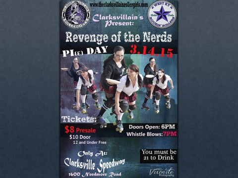 """ClarksVillains presents """"Revenge of the Nerds"""" this Saturday at the Clarksville Speedway."""