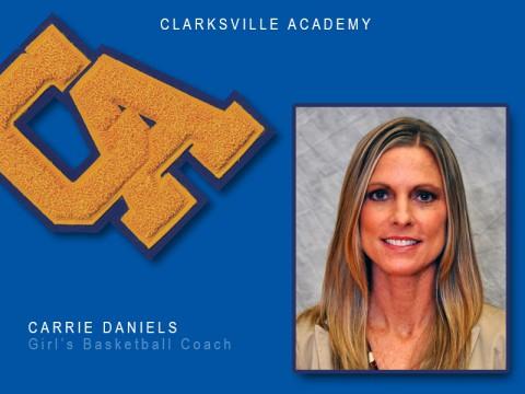 Carrie Daniels selected as Clarksville Academy's Girls Basketball Coach