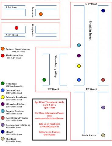 April Art Walk Map