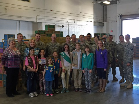 Over 24,000 Packages of Cookies were donated to Fort Campbell Soldiers by the Girl Scouts of Middle Tennessee.