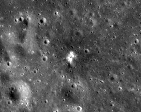This image taken by LRO is from July 28th, 2013. The new crater is about 59 feet wide. (NASA/Goddard Space Flight Center/Arizona State University)