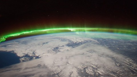 The Aurora Borealis viewed by the crew of Expedition 30 on board the International Space Station. The sequence of shots was taken on February 7, 2012 from 09:54:04 to 10:03:59 GMT, on a pass from the North Pacific Ocean, west of Canada, to southwestern Illinois. (NASA/JSC)