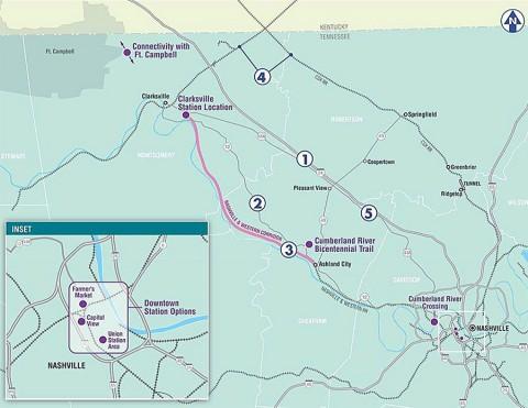 Northwest Corridor Transit Study Map