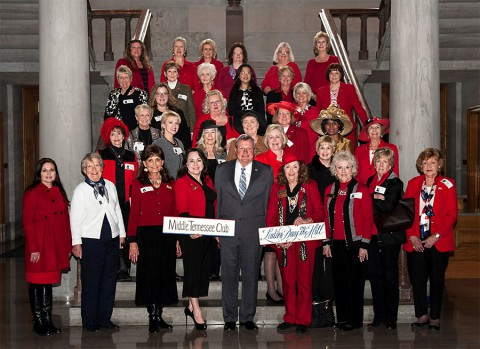 Representative Curtis Johnson with Republican ladies from Middle Tennessee.