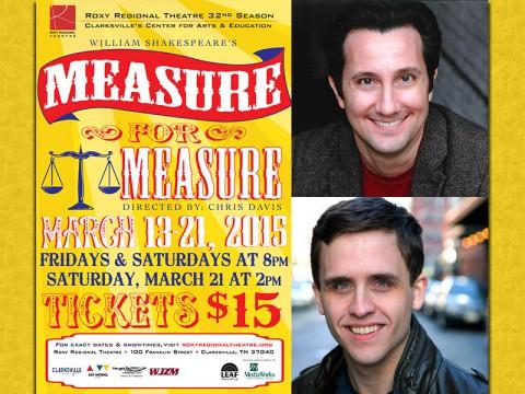 "Roxy Regional Theatre's performance of William Shakespeare's ""Measure For Measure"" stars (Top) David Gautschy and (Bottom) John Hardin."