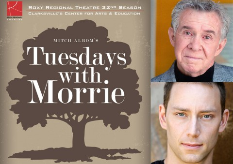 "Roxy Regional Theatre's ""Tuesdays with Morrie"" stars (top) Jay Doolittle and Matthew Whitfield."
