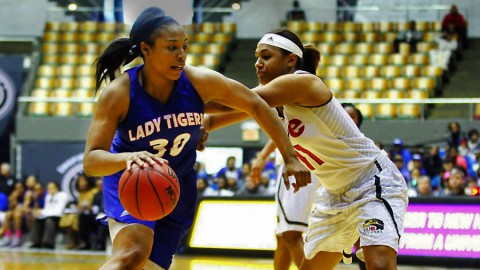 Tennessee State Women's Basketball makes it to the OVC Tournament Championship with win over SIUE Friday night. (Sam Jordan / TSU Athletics)
