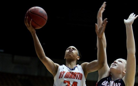 UT Martin's Ashia Jones scored a game-high 39 points to lead the Skyhawks past Belmont. (OVC)