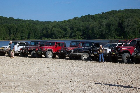Jeep Jamboree held at Turkey Bay OHV Area annually in May. (Land Between the Lakes)