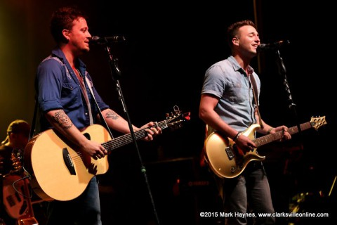 Love and Theft performed Friday night at Clarskville's Rivers and Spires Festival.