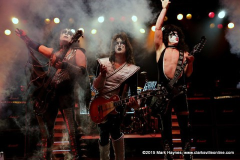 KISS Tribute Band Mr. Speed kicks Rivers and Spires into high gear Thursday night.