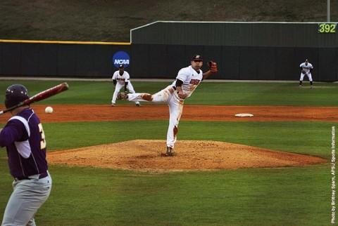 Austin Peay Baseball's Alex Robles throws seven scoreless innings against Southeast Missouri. (APSU Sports Information)